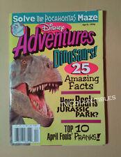 Magazine~ DISNEY ADVENTURES ~April 1996 ~Dinosaurs ~Pocahontas ~Babe ~Kid Ads
