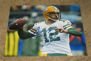AARON RODGERS SIGNED AUTOGRAPHED GREEN BAY PACKERS 8X10 PHOTO (PROOF) SUPER BOWL