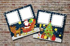 Christmas Santa North Pole Snow 2 PRINTED Premade Scrapbook Pages BLJgraves 67