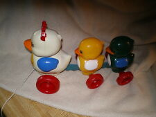 Tomy 1995 Duck Family Pull Toy, Vintage
