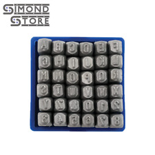 """36pc 1/8"""" Number and Letter Punch Set Hardened Steel Metal Die Stamp"""