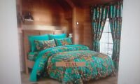 "one piece TEAL comforter "" the woods"" by regal comfort"