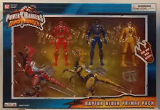 Power Rangers Dino Thunder Exclusive Raptor Rider Primal Pack Yellow Red Blue