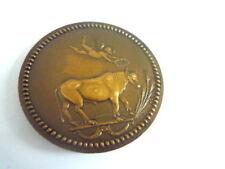 médaille bronze char romain + taureau couronné par ange - S.C  ancienne