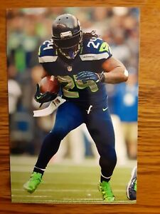 Marshawn Lynch Seahawks Football 4x6 Game Photo Picture Card