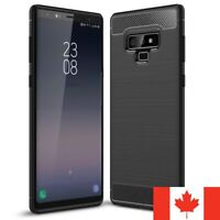 For Samsung Galaxy Note 9 Case - Shockproof Carbon Fiber Soft TPU Hybrid Cover
