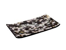 12''x18'&# 039; Gorgeous Black Mother of Pearl Boat Serving Tray Inlay Arts Gifts E279