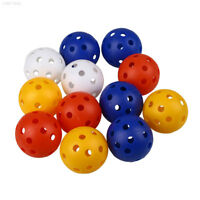 7CCC 50Pcs Plastic Whiffle Airflow Hollow Golf Practice Sports Balls Accessories