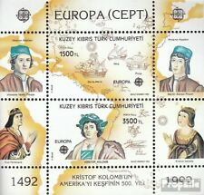 Turkish-Cyprus block10 mint never hinged mnh 1992 America