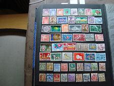 SUISSE - 57 timbres obliteres (tout etat) switzerland