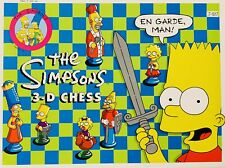 Vintage 1991 The Simpsons 3-D Chess Set Complete Board Game Classic Complete