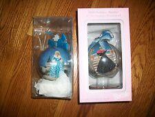 """Lot 2 4"""" Decoupage Ornament Winter Renaissance Barbie Wooden Stand&1998 HH"""