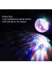 2 Mini Usb Rgb Led Disco Stage Lighting Ball Dj Crystal Magic Light Decor Party