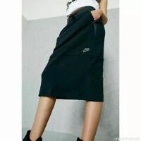 Nike sz Small Women's Sportswear TECH FLEECE Midi Skirt $80 831719-010 Black