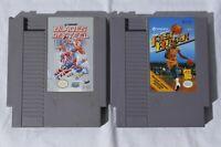 NES Blades of Steel & Magic Johnson's Fast Break Game Cartridges