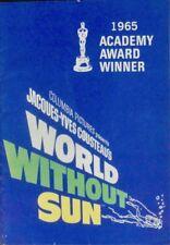 WORLD WITHOUT SUN Le MONDE SANS SOLEIL Japanese movie program B COUSTEAU 1964