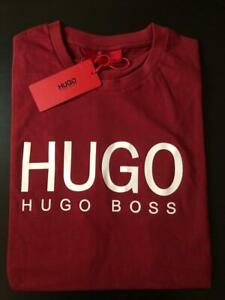 Hugo Boss Men's t shirt short sleeve crew neck original new with tag Maroon