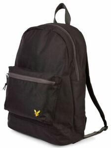 Lyle & Scott Mens Backpack College Bag Gym Sports Bag Rucksack Black