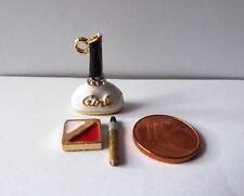 Parfüm Flasche Make-up Pinsel Bad Kosmetik Metall Puppenstube Miniatur 1:12