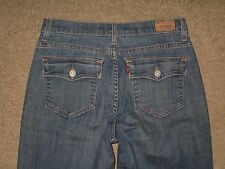 Levis 512 Size 8 Medium Flap Pocket Perfectly Slimming Boot Cut Light Blue Jeans