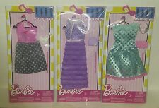 """""""BARBIE"""" 3 - FASHION COMPLETE LOOK PACKS  Dress Lot: LOW$$, FREE SHIPPING"""