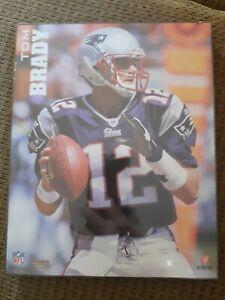 """Tom Brady New England Patriots 8""""×10"""" plaque"""