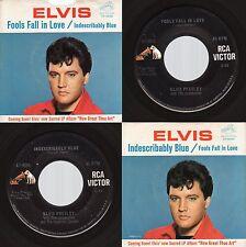 """Elvis presley """" Fools Fall In Love / Coffret Bleu """" Rca 47-9056 1967 Rock"""