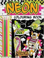Neon Colouring Book with Pencils - New A4 Colouring Activity Book