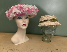 Vintage Hats Silk Flowers Noreen Label Lot Of Two