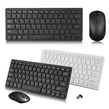 Bluetooth Wireless Keyboard + Mouse Set Simple Combo 2.4Ghz For Laptop Pc Mac