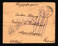Germany 1916 POW Cover to France / Censor / HEILBRONN CDS - Z14396