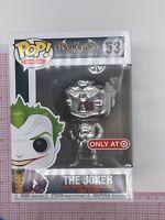 Funko Pop! The Joker Silver Chrome #53 Batman Arkham Asylum Target Exclusive F02