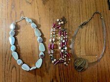 Vintage Lot Chico's J Crew Costume Jewelry Necklaces SET Of 3 UNIQUE ❤️tb5m