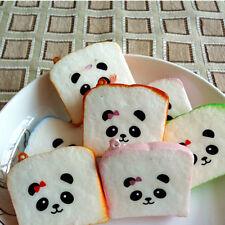 2 X Cute Panda New Squishy Buns Bread Charms Squishies Cell Phone Straps 6cm
