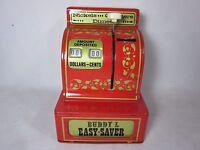 Vintage BUDDY L Tin Toy Steel Metal Easy Saver Mechanical Cash Register BANK