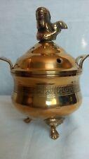 Vintage chinese solid brass incense burner.