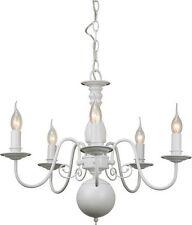 Deckenlampen & Kronleuchter im Landhaus-Stil aus Eisen mit 4-6 Lichtern