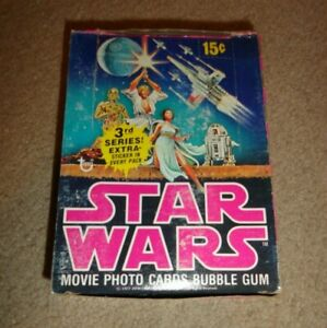 1977 Star Wars Series 3 Empty Wax Display Box 3rd Series No Packs