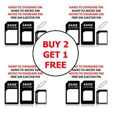 SIM Adapter Converter Nano To Micro Nano To Standard Micro To Standard + SIM PIN