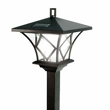 1.5M TRADITIONAL STYLE SOLAR LED LAMP POST LIGHT OUTDOOR GARDEN DRIVEWAY LIGHT