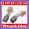 Le lot de 2 charbons 7 x 7 x 10 mm Makita CB430 BHP460 BHR200 BGA452 LXDG01 LXDG