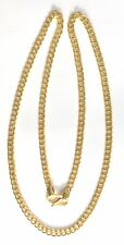 Chain necklace from Rajasthan India Solid 22K Gold flexible handmade