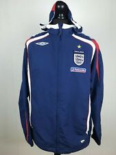 RARE England 2007/2008/2009 UMBRO Track Jacket Men's Size L Nationwide Top MINT