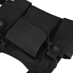 Walkie-Talkie Chest Pack Military Quality Walkie-Talkie Hanging Bag For Security