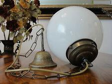Deckenlampe Jugendstil Hängelampe Kugel Lampe Antik Pendelleuchte Glas Messing
