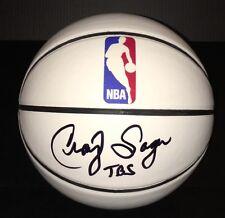 NBA Announcer CRAIG SAGER Signed Autographed Basketball COA! #SAGERSTRONG