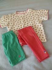 Vintage Gymboree Girls S 3 LOT Floral S/S TOP Matching LEGGINGS & SHORTS Outfit