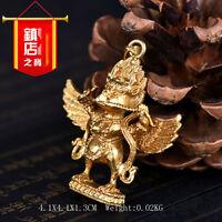 Tibetan Tibet Buddhist Buddhism  Gilding Garuda Dhwaja  Bird Amulet Pendant