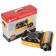 Camplux Mini Portable Golden Gas Stove with Infrared Technology Ceramic Burner