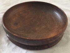 Victorian carved oak wooden bowl - 144mm Diameter.
